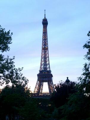 Eiffel Tower in the sunlight